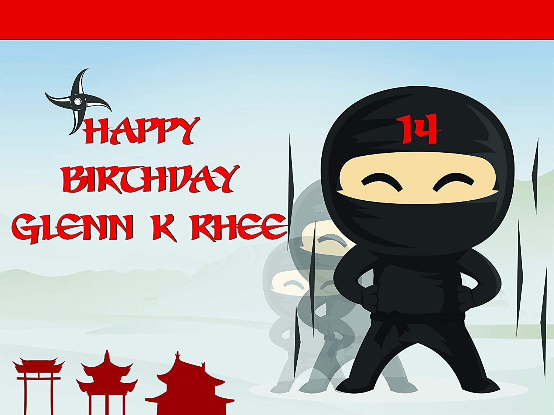 Custom Home Decor Ninja Birthday Poster for Kids and Adults, Personalized Ninja Warrior Birthday Banner Wall Décor, Happy Birthday, Handmade Party ...