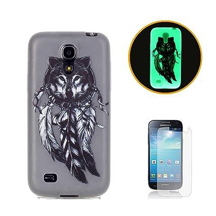 d1efe4d8613 CaseHome For Samsung Galaxy S4 Mini Luminoso Funda (Con Gratis Pantalla  Protector) Creativo Único Vistoso Patrón Impreso Diseño Fluorescente Efecto  Verde ...