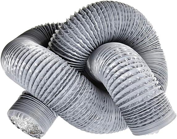/ø100mm*10m, Bianco Hon/&Guan Condotti Tubo di Ventilazione Flessibile in Alluminio PVC per Aerazione Domestica Hydroponics