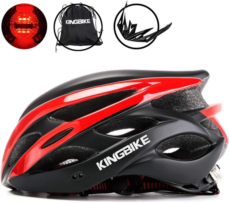 Detachable Visor for Men Women KINGBIKE Ultralight Bike Helmets CPSC/&CE Certified with Rear Light M//L,L//XL Portable Simple Backpack