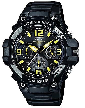 955b77dadb Amazon   [カシオ]CASIO 腕時計 クロノグラフ MCW-100H-9AV イエロー ...