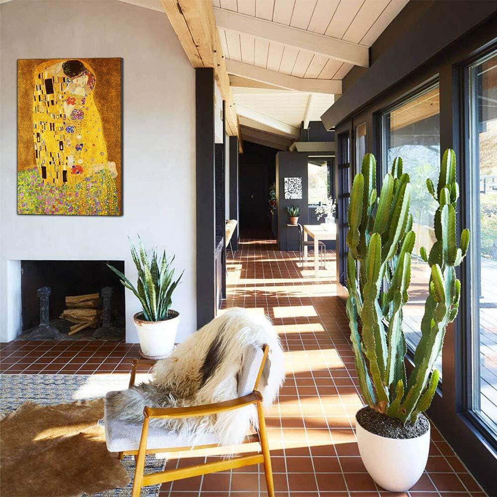 Five-Seller El Beso De Gustav Klimt Lona Pinturas Famosas Reproducci/ón De Arte Impreso En Lienzo Arte De Pared Ilustraciones para Decoraciones para El Hogar 40/_x/_60/_cm