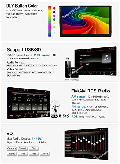 Double Din Car Stereo, Android 8 1 Car Radio Stereo Audio 10 1