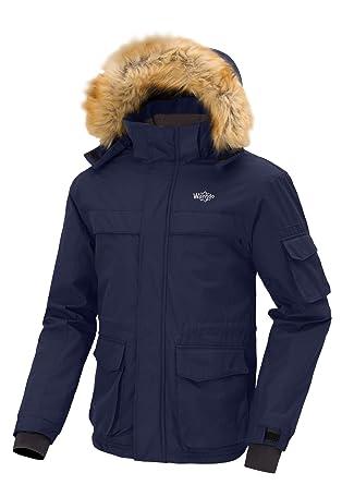 Wantdo Chaqueta de Esquí Impermeable para Hombre de Invierno