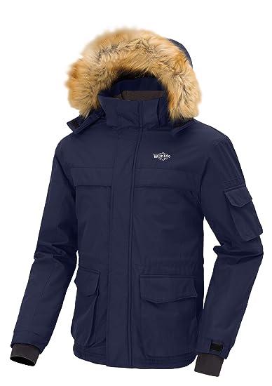 Wantdo Chaqueta de Esquí Impermeable para Hombre con Capucha Desmontable de Invierno: Amazon.es: Ropa y accesorios