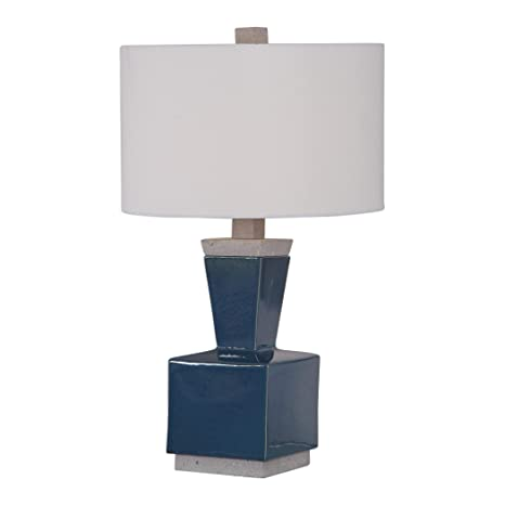 Modern Industrial Blue Ceramic Table Lamp Living Room ...