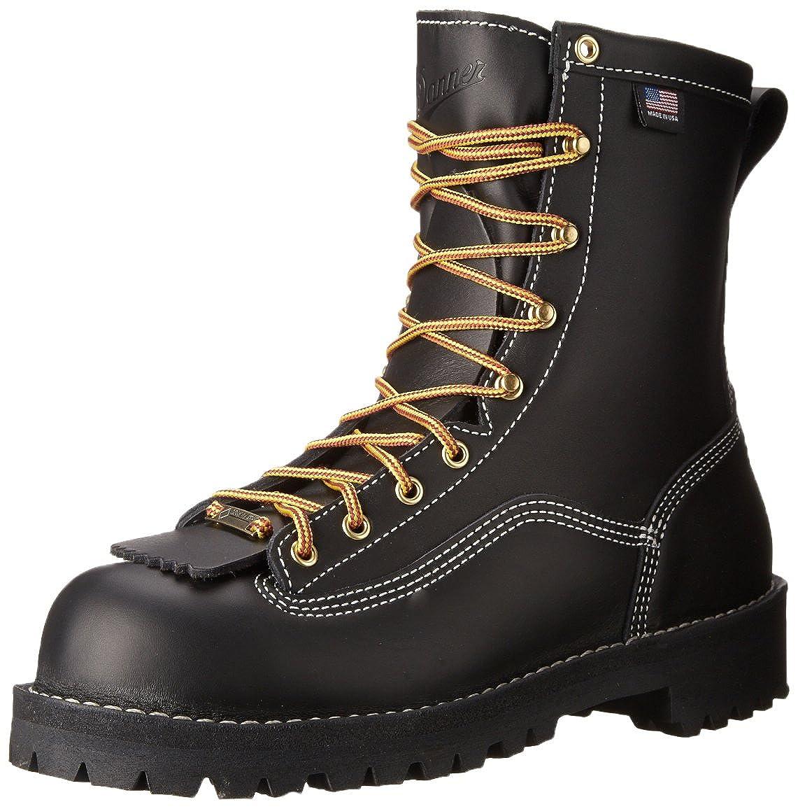 55b17c162d5 Danner Men's Super Rain Forest 8 Inch Work Boot, Black, 7.5 D US ...