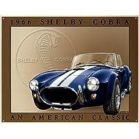 Shelby Cobra 1966 An American Classic Retro Vintage Tin Sign - 12x16 , 16x13