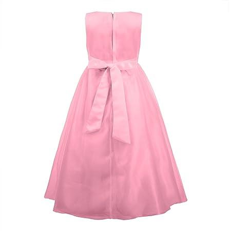 Katara niña de las flores, vestido de noche para niños de 7-8 años, color rosa: Amazon.es: Juguetes y juegos