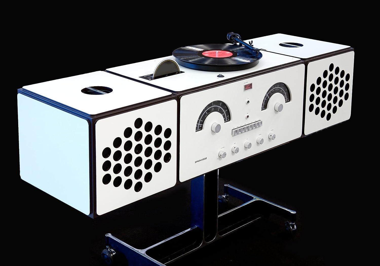 Brionvega - rr226 Fonografo - platino LP, Radio FM/AM ...