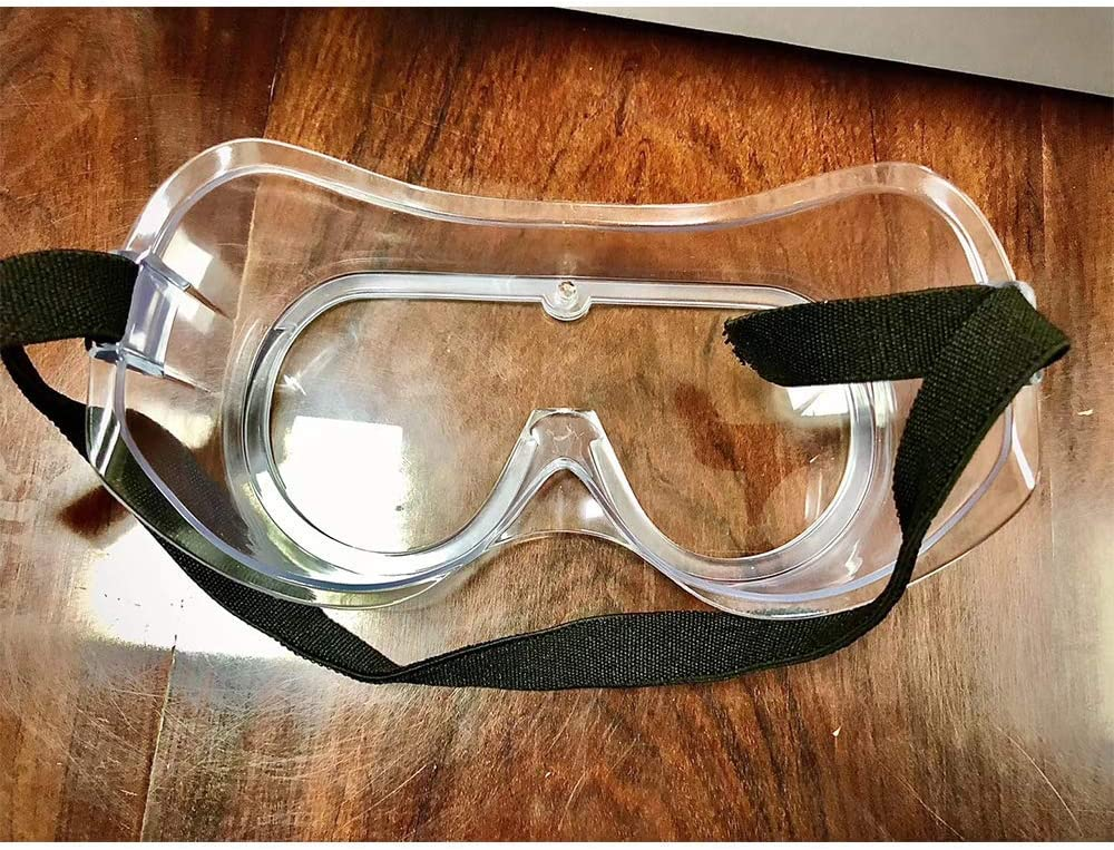 LMXDCS Gafas Seguridad Transparentes Envolventes Gafas Trabajo Protectoras Selladas Impacto Ocular sobre Gafas para Bricolaje Laboratorio Molienda Quir/úrgico Doctor Enfermera Hospital Etc.