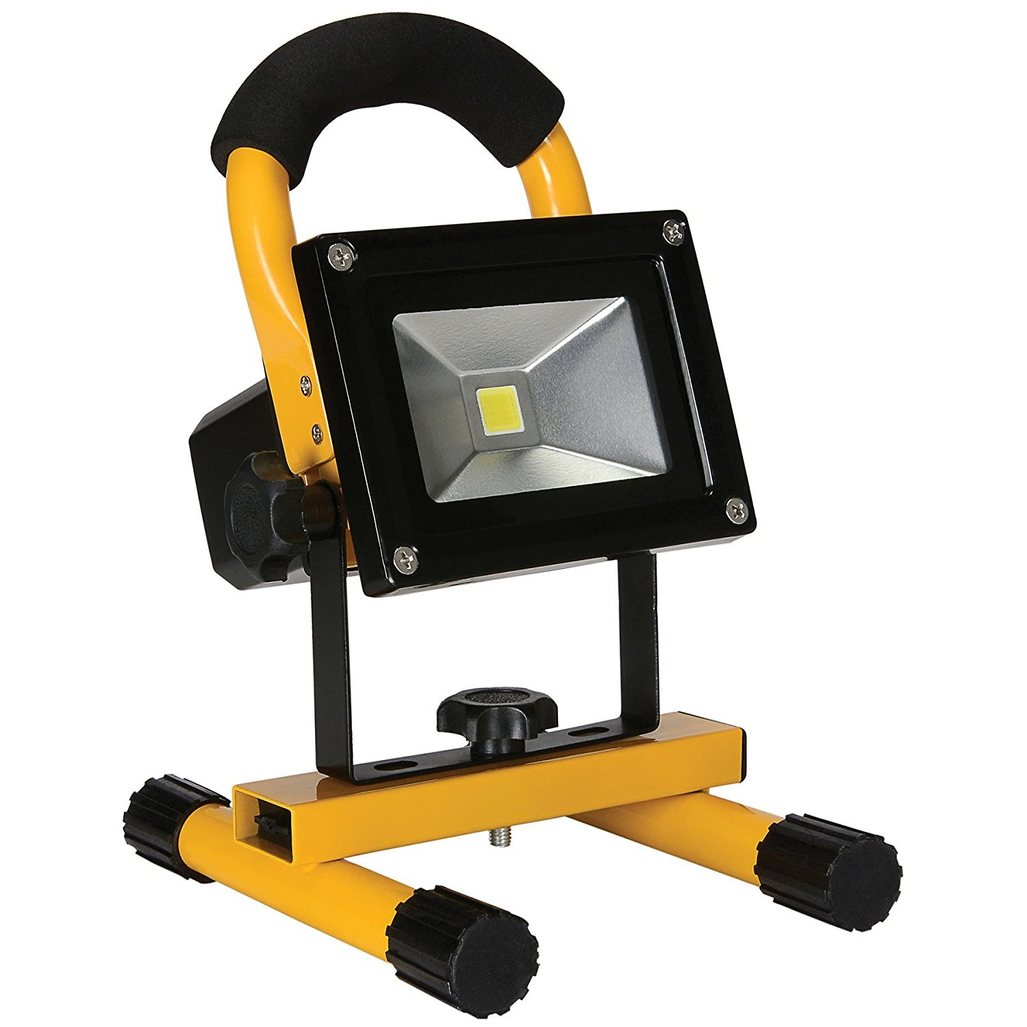 Portable IP65 Waterproof 10W Super Bright COB Type LED Work Light Rechargeable Flood Lights Lamp by Electronix Express