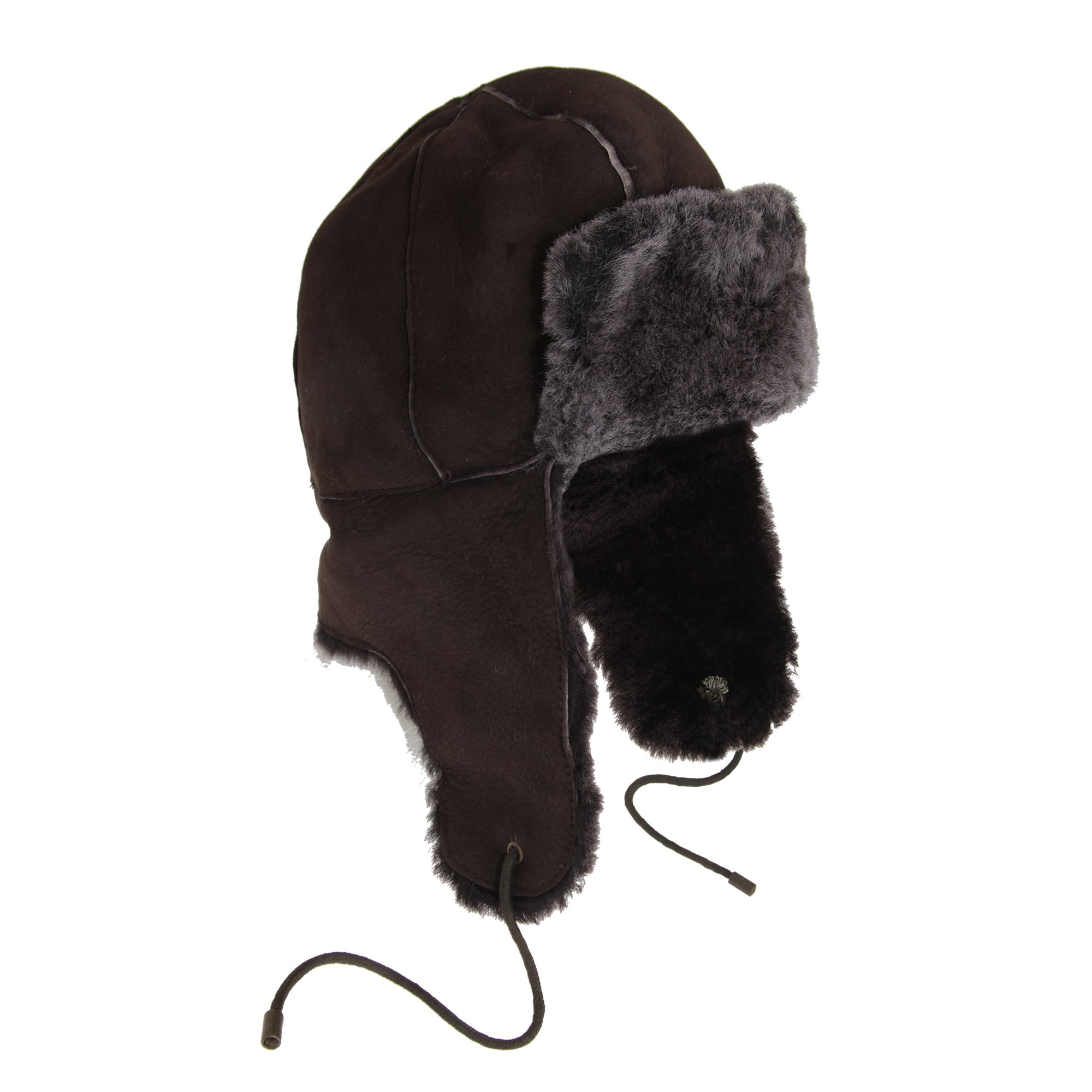 Eastern Counties Leather Womens/Ladies Bourn Sheepskin Pilot Hat (L) (Brown/Tipped)