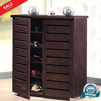Foyer Shoe Cabinet With Doors Entrance Shoe Closet Decorative Wooden  Shelving Unit Hallway Entryway Indoor Home