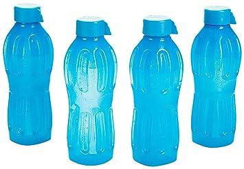 Botella de agua de plástico Signoraware Set, 500 ml, juego de 4