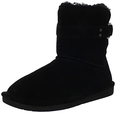 Womens Tessa Suede Round Toe Mid-Calf Cold Weather Boots