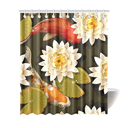Image Unavailable Not Available For Color Japanese Koi Fish Shower Curtains