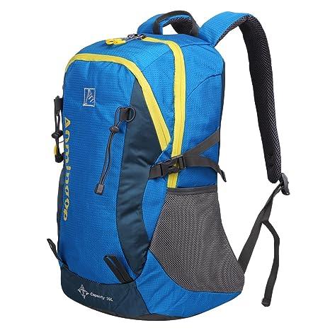 EVERGO mochila de ciclismo senderismo mochila moto mochila transpirable 30L, azul