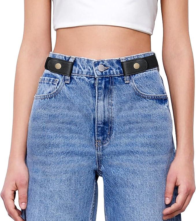 GK Womens Slim Skinny Punk Elastic Belt Stretch Dress Trousers Casual Waistband