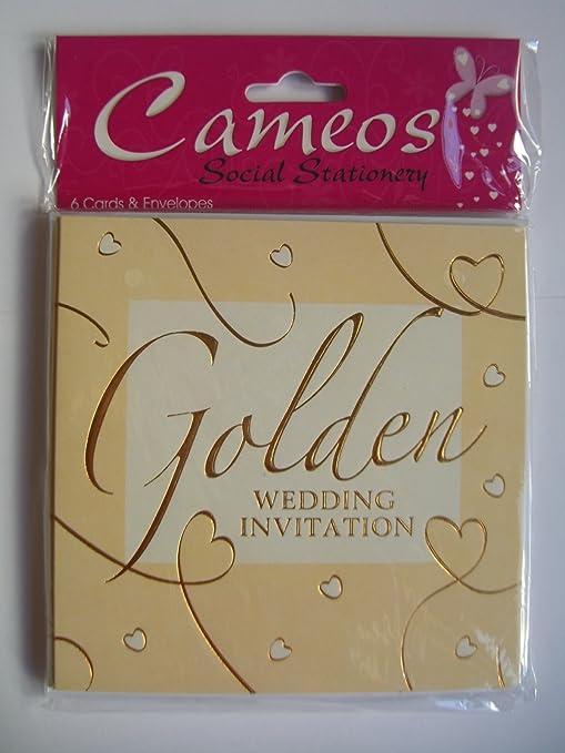 Invitaciones con sobres para las bodas de oro (50. Aniversario), 6 ...