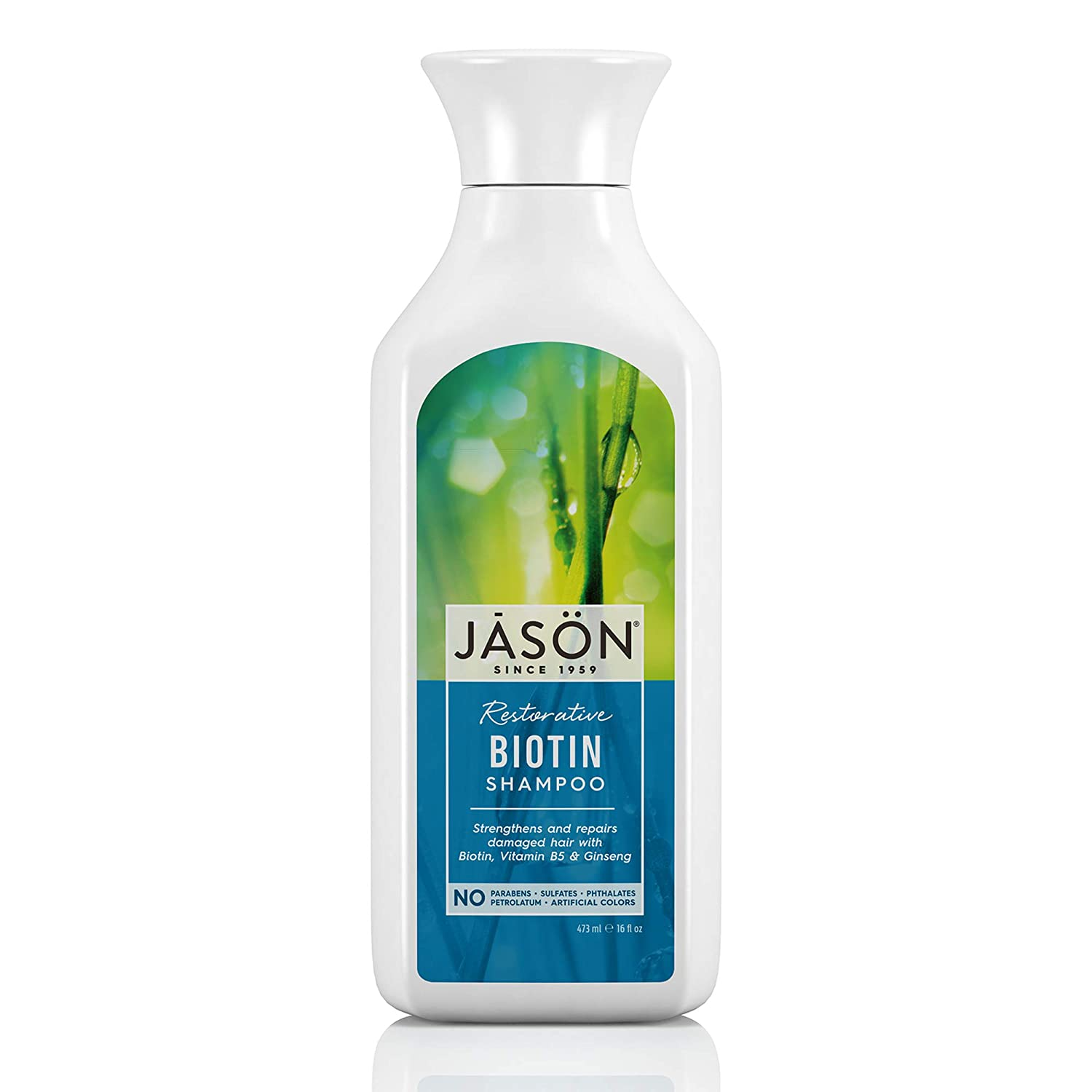 JASON Restorative Biotin Shampoo, 16 Ounce Bottle