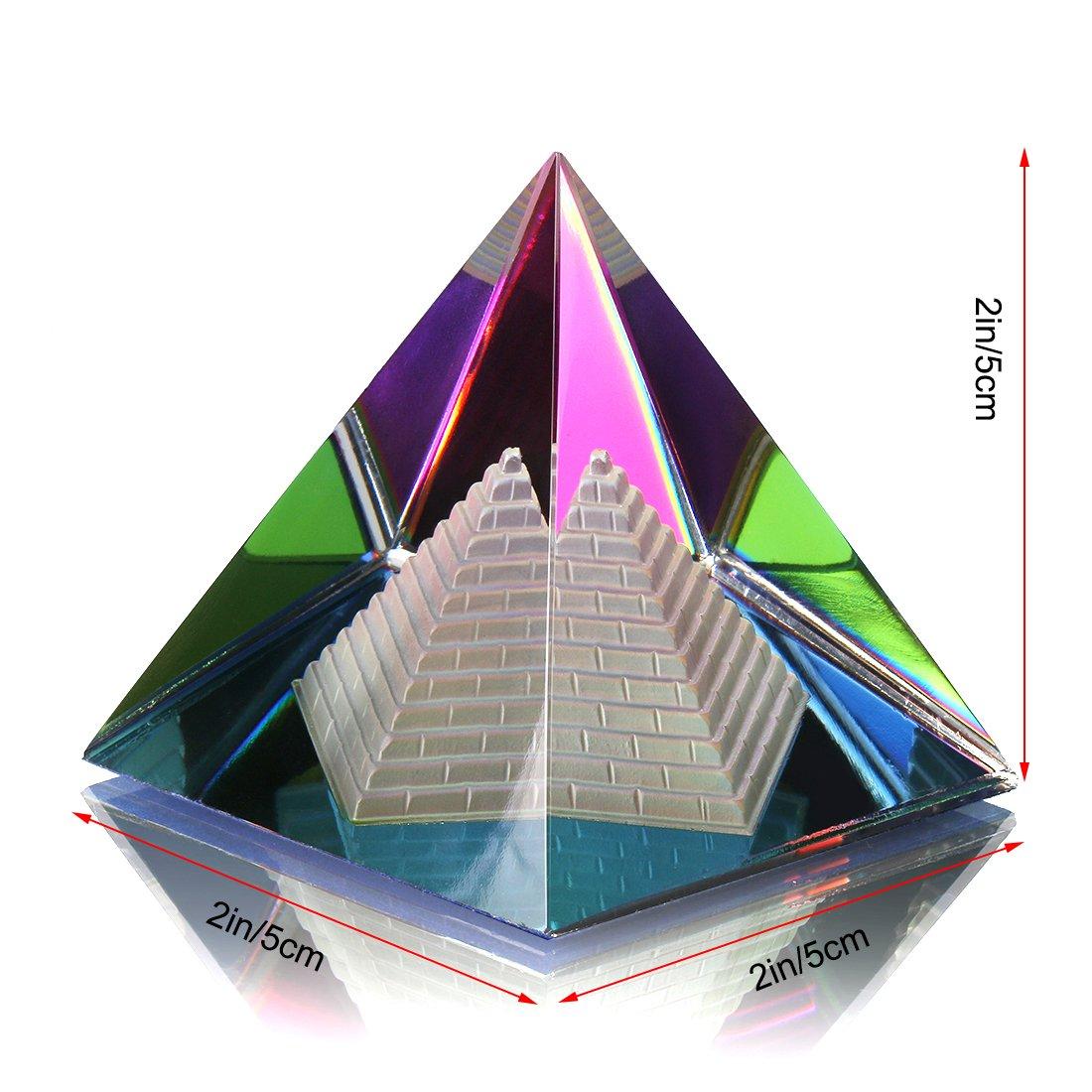 Presse-papier H/&D en forme de pyramide creuse 2D Multicolore Avec bo/îte cadeau