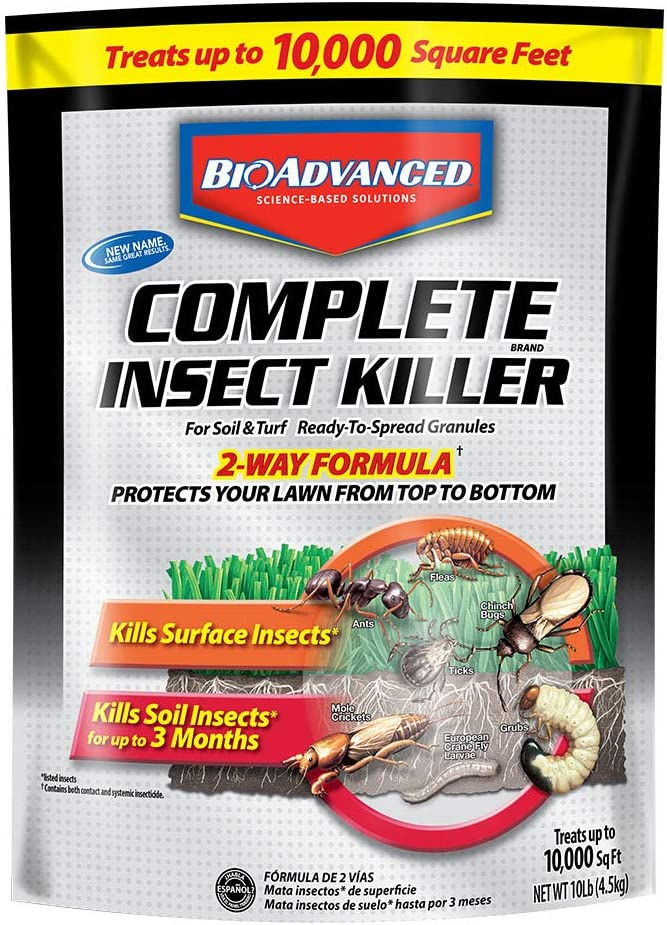 Bayer 700288SAdvancedComplete Insect Killer for Soil and Turf Granules, 10-Pound