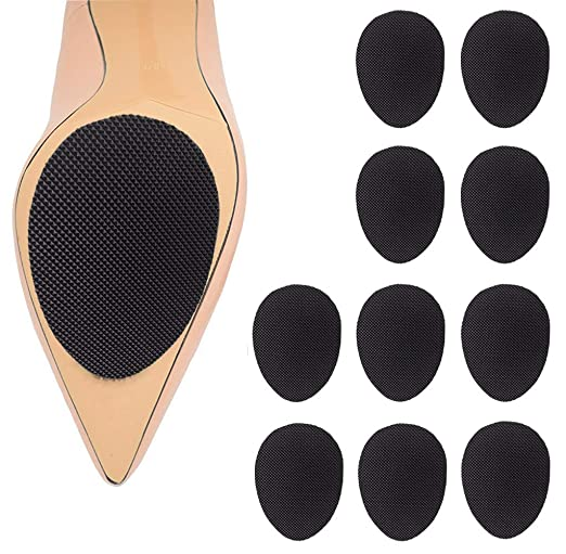 High Quality Adhesive Self-Adhesive Anti-Slip Stick Pad for Shoes Upgraded Skid Proof Sole Stick Protector (5 Pairs)