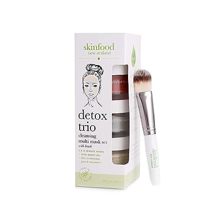 Skinfood Detox Face Cleansing Multi Mask Set with Brush