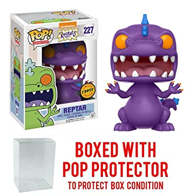 Funko Pop! Animation: Rugrats - Reptar CHASE VARIANT Vinyl Figure (Bundled with Pop BOX PROTECTOR CASE): Toys & Games