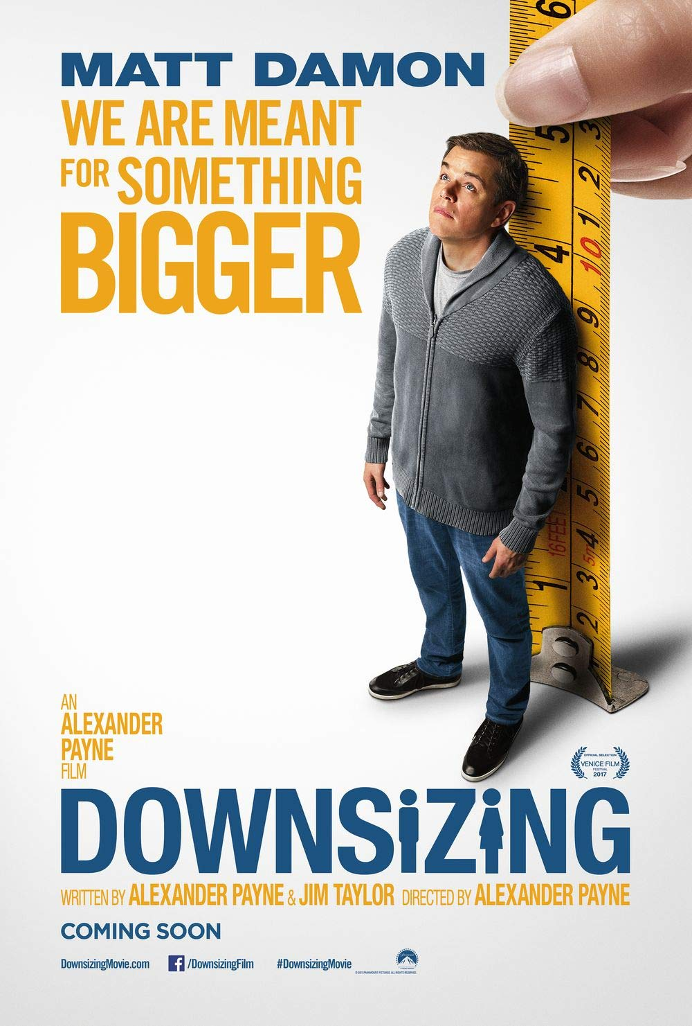 Lionbeen Downsizing Movie Poster Cartel de la Pelicula 70 X ...