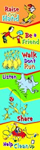 Eureka Dr. Seuss Back to School Classroom Rules Poster Door Decoration, 12'' x 45''