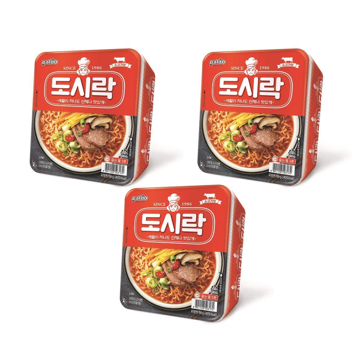 [Paldo] Dosirak(Lunch box) Cup Noodle 86g × 3 / Instant ramen / Korean food / Korean ramen (overseas direct shipment)