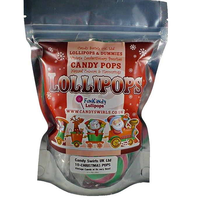 Code 0903/CSL - Caramelos de navidad piruletas 280g 10x28g en una bolsa resellable.: Amazon.es: Alimentación y bebidas