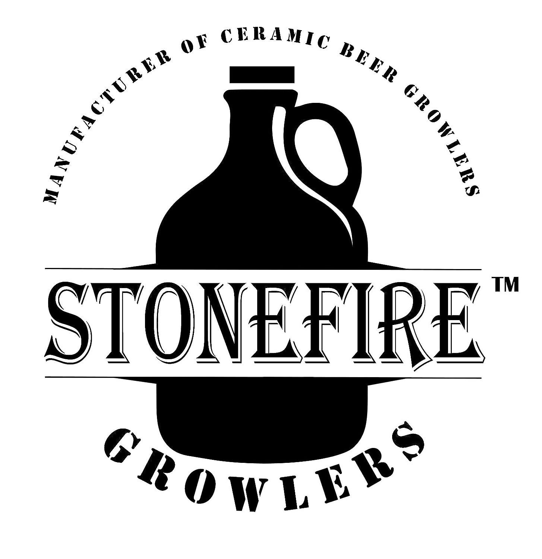 Amazon.com: 64oz Gray Stonefire Ceramic Beer Growler with Flip Top ...