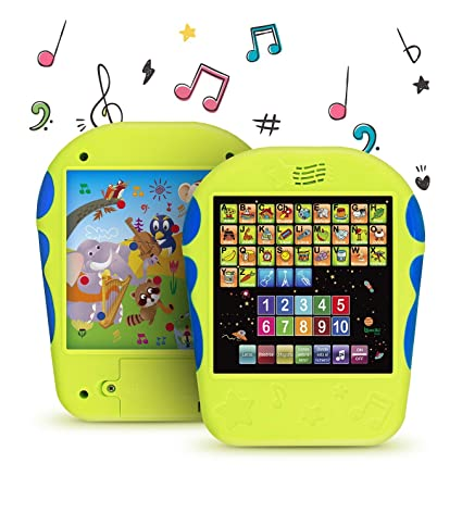 """Spanish Learning Tablet Educational Toy for Kids. Touch and Learn Spanish Alphabet Toy for Toddlers - Learn Spanish Numbers, ABC, Spelling, """"Where ..."""