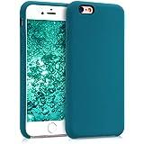kwmobile Funda para Apple iPhone 6 / 6S - Carcasa de [TPU] para teléfono móvil - Cover [Trasero] en [petróleo Mate]