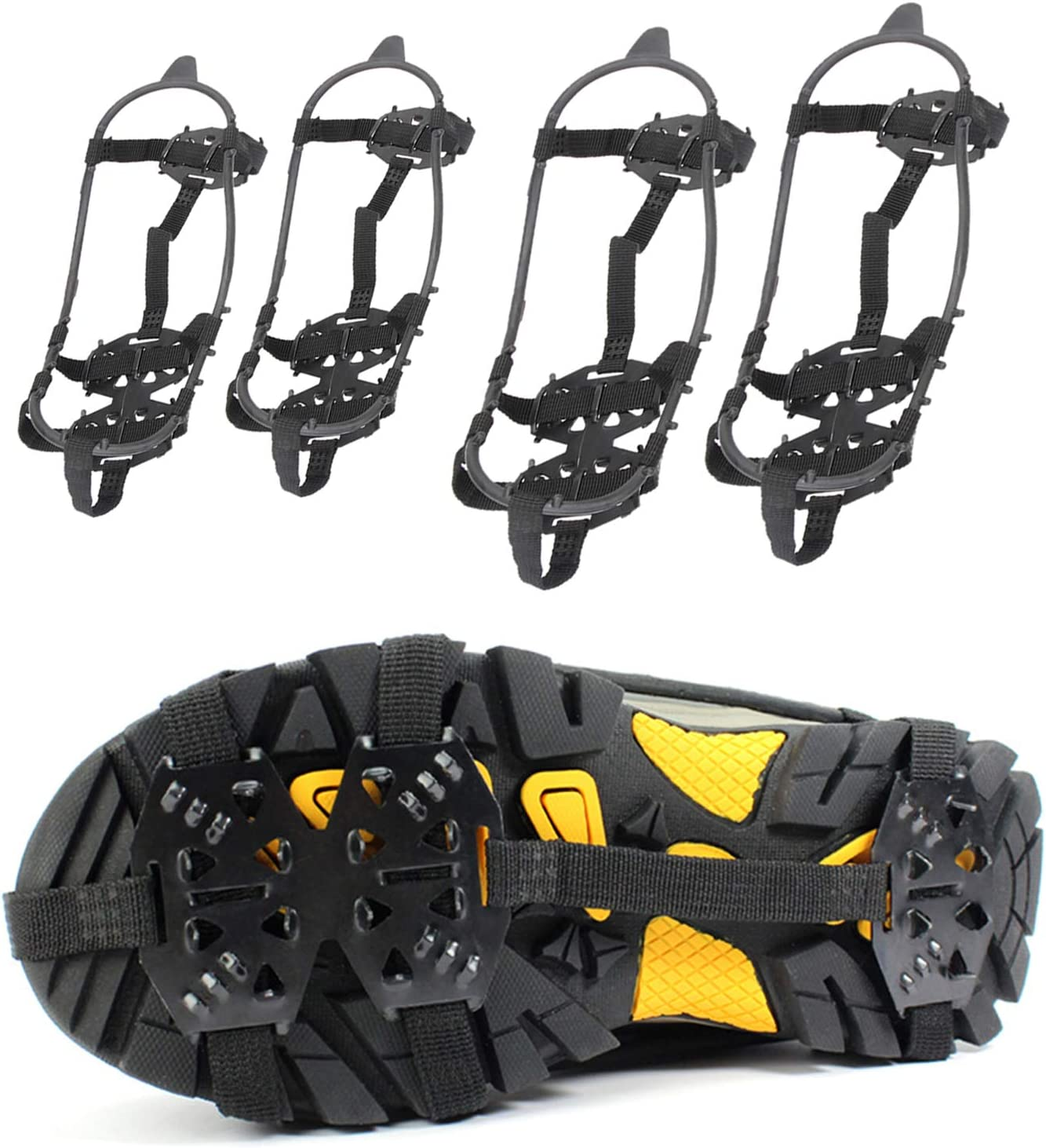 5 Teeth Anti Slip Ice Climbing Shoes Spike Cleats Outdoor Climbing Crampons