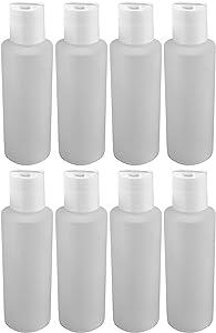 Pinnacle Mercantile 4 Oz Plastic Squeeze Bottles with Disc Top Flip Cap Set of 8 Empty