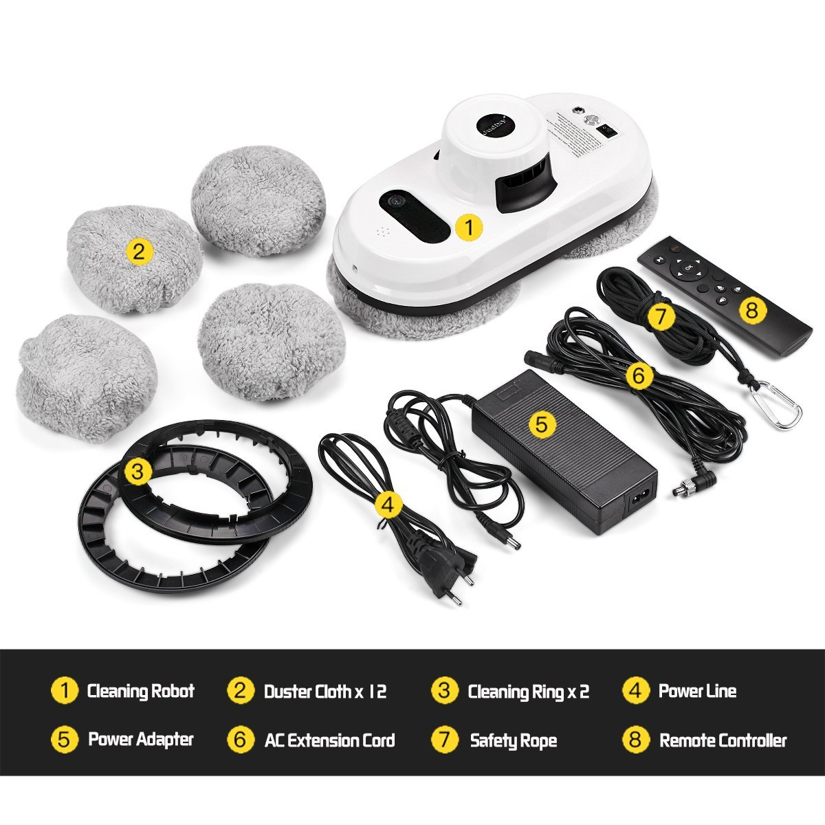 Judixy Window Cleaner Robot, Ultra-Fast Cleaning Speed for Inside and Outdoor by JUDIXY (Image #7)