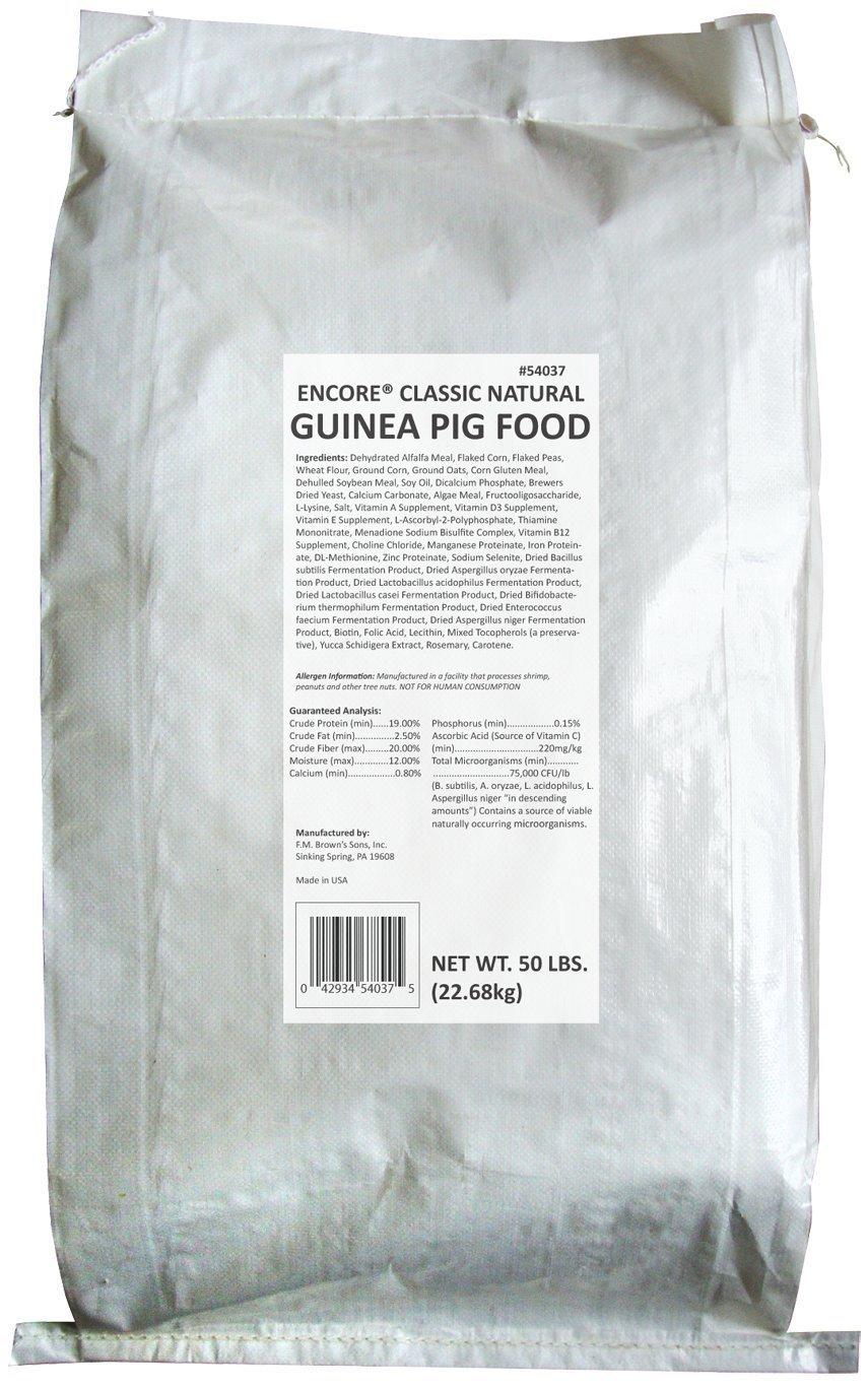 FMBROWN clásica Guinea Pig Natural Food, 50-Pound