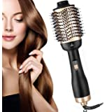 2020 Upgraded AU PLUG One Step Hair Dryer and Volumizer, Oval Blower Hair Dryer Salon Hot Air Paddle Styling Brush Negative Ion Generator Hair Straightener Curler Comb for All Hair Types