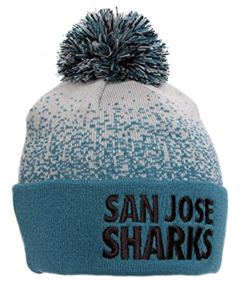da52e309317 Image Unavailable. Image not available for. Color  San Jose Sharks Mitchell    Ness Beanie w  Pom