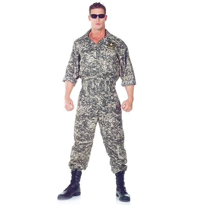 8728211be09 Amazon.com  Underwraps Men s U.S. Army Jumpsuit  Clothing