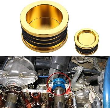 Blox Cam Seal Gold Aluminum Fits Civic Si Del Sol VTEC Integra NSX Prelude