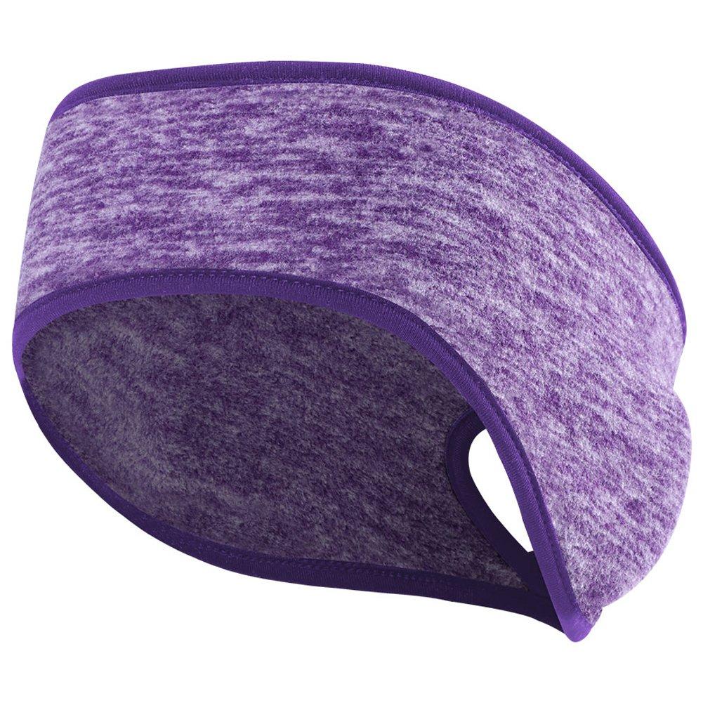 Women's Ponytail Headband Ear Warmer Head Wrap Running Sweatband Yoga Hair Band CA-QL-A-EAR-Grey1
