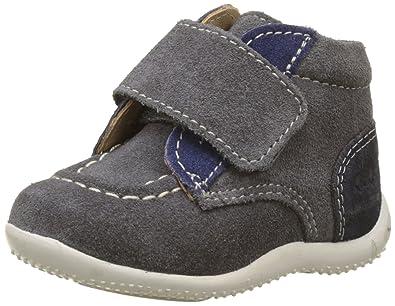 Kickers Baby Jungen Bono Sneaker, Mehrfarbig (Gris Fonce Bleu Marine), 20 EU