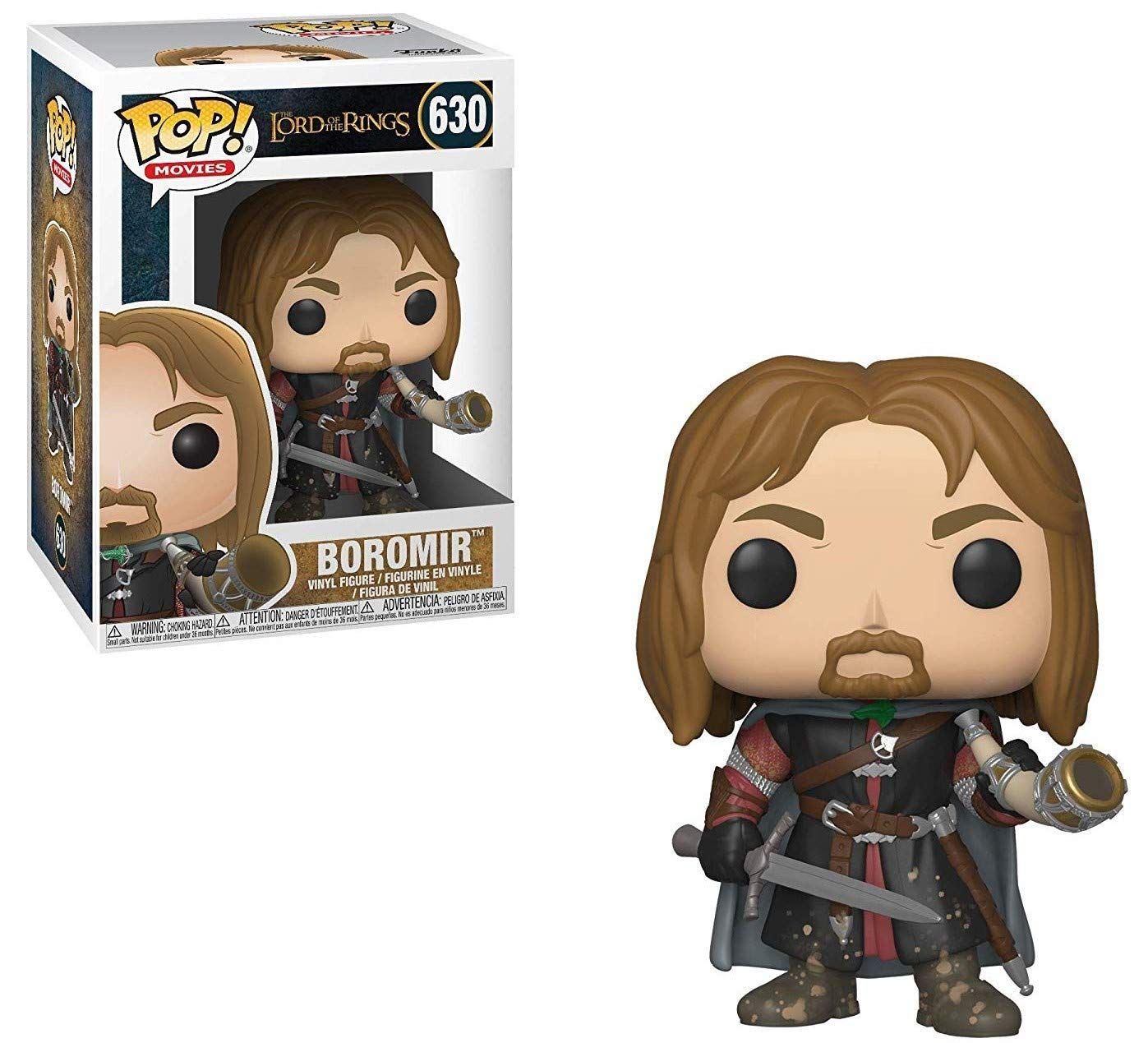 Vinyl Figure Funko Lord of The Rings: Boromir w// Horn Bundled Box Protector CASE POP