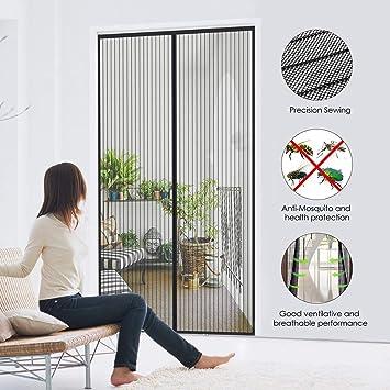 Uni-Wert Mosquitera magnética para puerta Cortina (fácil de instalar, cortina magnética para