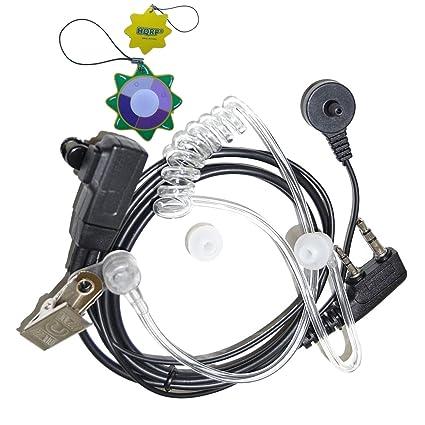 HQRP 2 Pin Micro-Auricular Micrófono Tubo Acústico para Kenwood TK